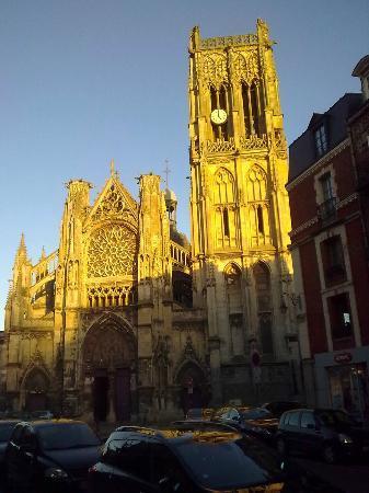Église Saint-Jacques : Coucher de soleil sur l'Eglise St Jacques