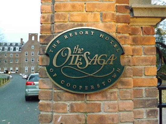 The Otesaga Resort Hotel: Hotel sign