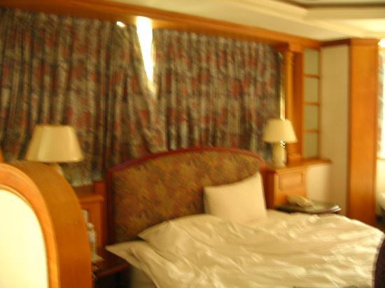 Meadow Hotel: カーテンを開けると掃除されてなくて埃っぽい