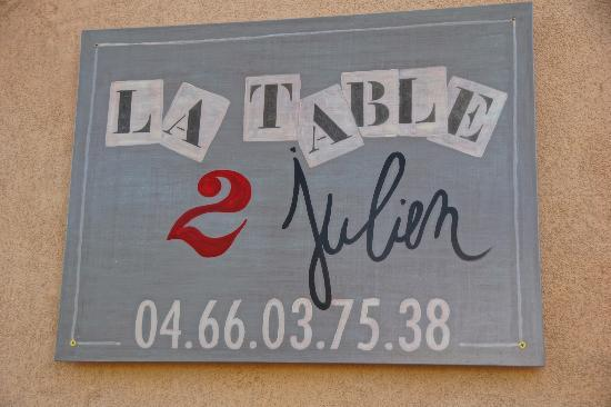 La Table 2 de Julien: Le nouveau Restaurant