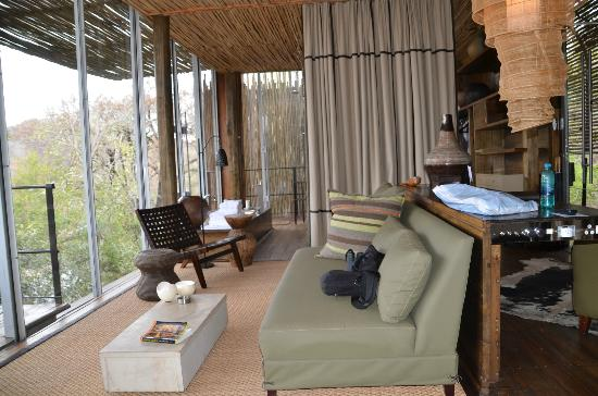 Singita Sweni Lodge: For indoor relaxing