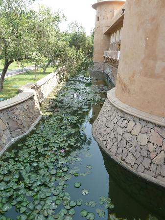 The Oberoi Rajvilas: Moat of the central 'fort' area which houses the public areas