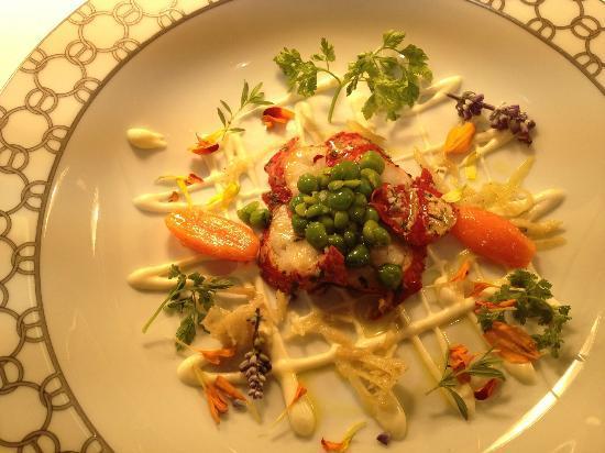 Casa Vissani : Astice blu con griglia di fettuccine al burro e parmigiano