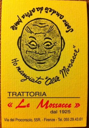 Trattoria Le Mossacce Carte Visite
