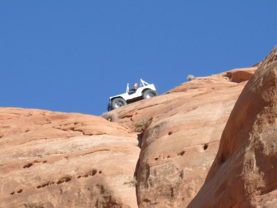 Moab, UT: How did they get that jeep up on that rock?