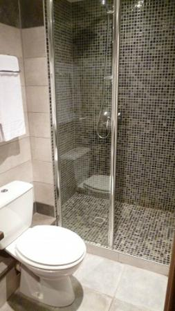 Hotel de Blauvac : Shower room without door, but no problem!