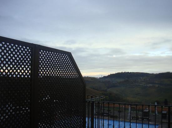 Golf Relais Monforte: balcony and view from room 2