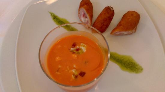 Restaurante la Viuda Rica: Salmorejo