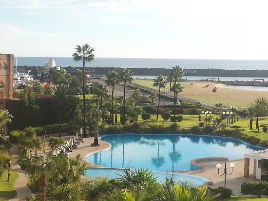 Marina Smir Hotel & Spa: View of pool and marina from balcony