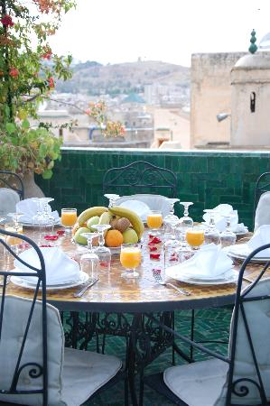 Riad La Maison Verte: View from the terrace