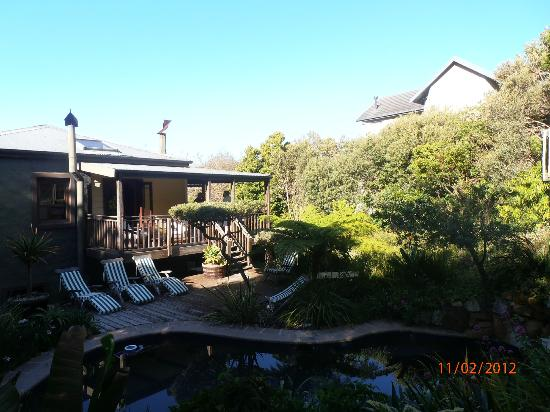 The Hout Bay Hideaway: View to the house from the side of the house