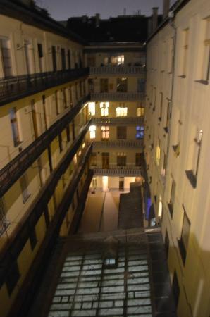MushROOMs Bazilika: Hallway view at the patio