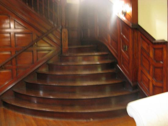 Morgan State House: The staircase on the main floor