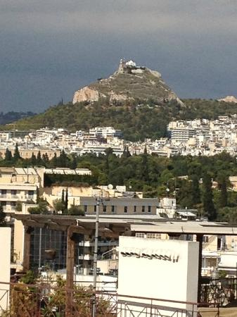 Acropolis Ami Boutique Hotel: Another famous hill (can't remember the name), as seen from our balcony