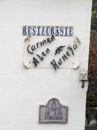 Las-Tres-Terrazas: Restaurant next to the B&B