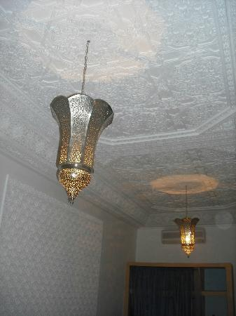 Riad Al-Bushra: Some of the intricate plasterwork on the ceilings
