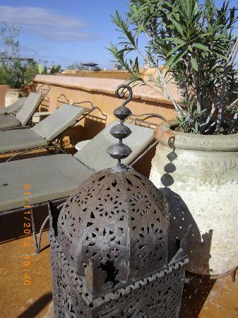 Riad Dar Tayib: terrasse avec transats