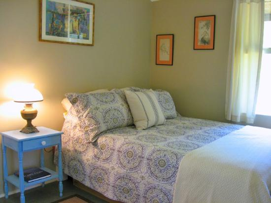 Queen bed with new orthopedic mattress, The Pine Suite, Cottage Guest Eastham Guest house