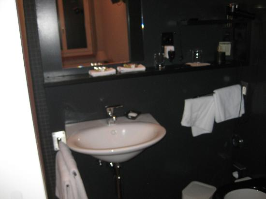 Plattenhof Hotel: The bathroom