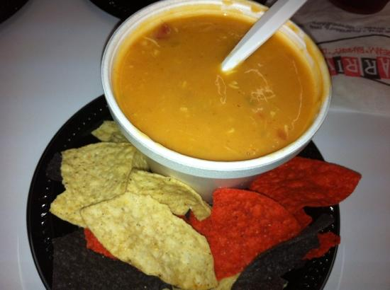 Clear River Pecan Bakery, Sandwiches and Ice Cream: cheesy tortilla soup