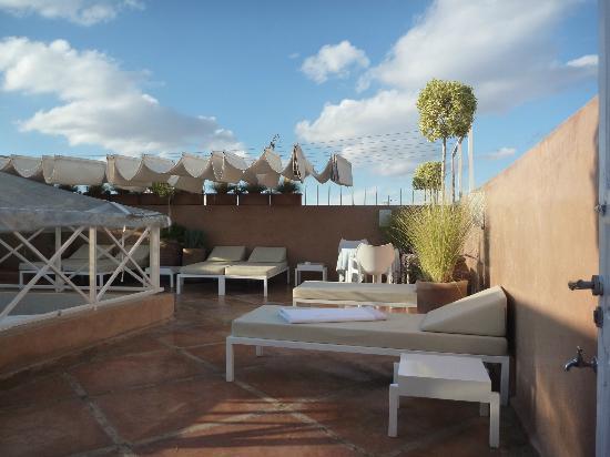 Riad Dar White : La terrasse
