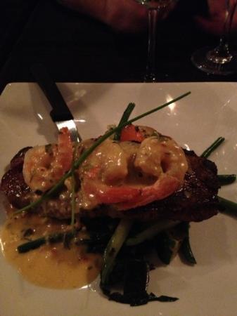 Social Resto Lounge: steak & shrimp with lobster bernaise sauce