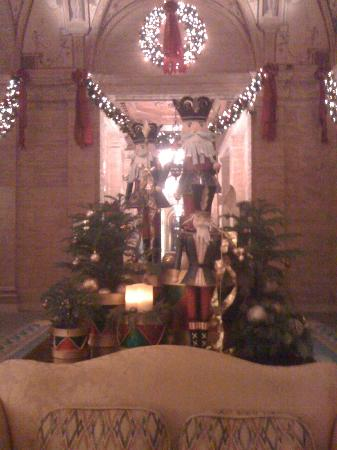 The Breakers: Nutcracker display in lobby