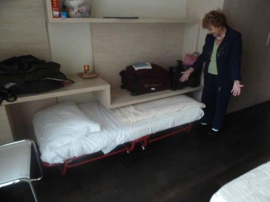 Hotel San Marco Roll Away Bed We Put Under Desk During Day And Pulled