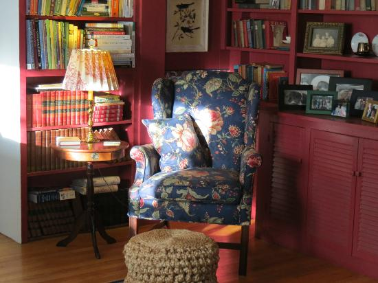 Crabtree Cottage: A cozy chair in a sunny corner of the living room