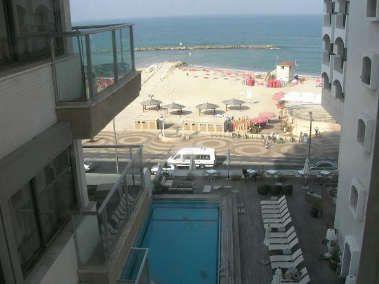 Orchid Tel Aviv: View of the pool / beach from the room