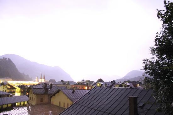 Haus Jermann: Lightning Storm shot from Room 5 balcony.