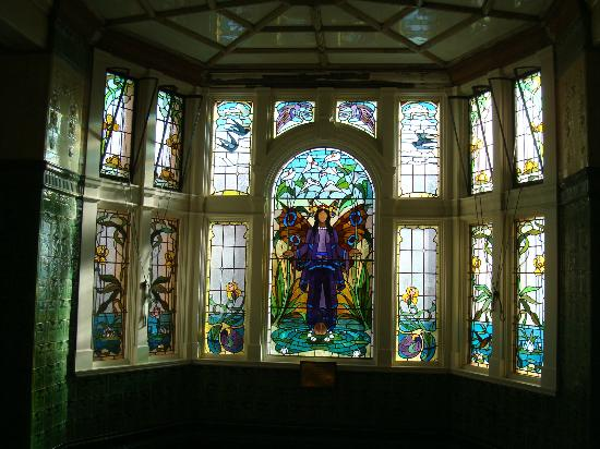 Victoria Baths: The Angel of Purity window.