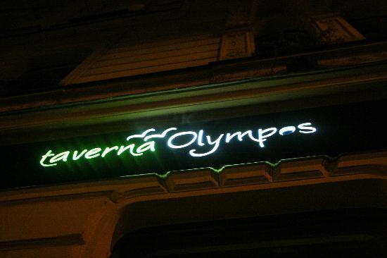 Taverna Olympos: Sign