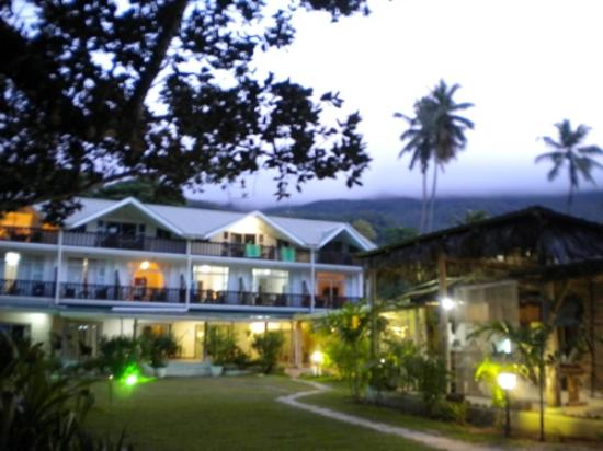 Augerine Guest House : The exterior, taken from the beach side.