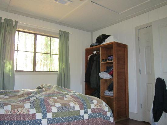 Cooper Lake State Park: Small open armoire in bedroom