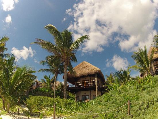 Encantada Tulum: Our room (Cielo) from the beach
