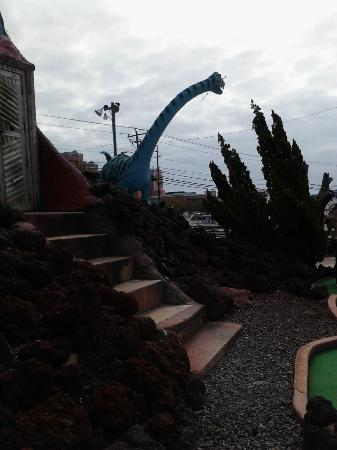 Old Pro Golf: One of the dinosaurs outside