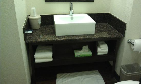 Red Roof Inn Locust Grove: Sink and Storage area