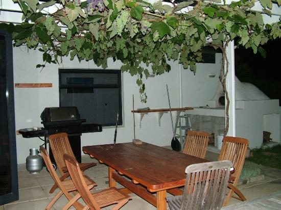 Houhora Lodge & Bed & Breakfast: Patio & Grapes