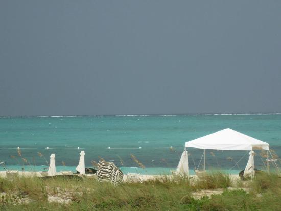 Gansevoort Turks + Caicos: View of Grace Bay Beach from our room's deck
