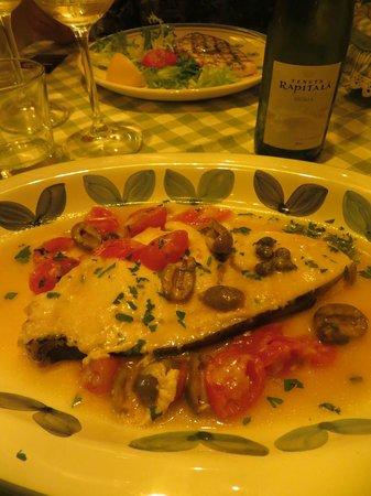 Siciliainbocca in Prati : swordfish with olives & capers