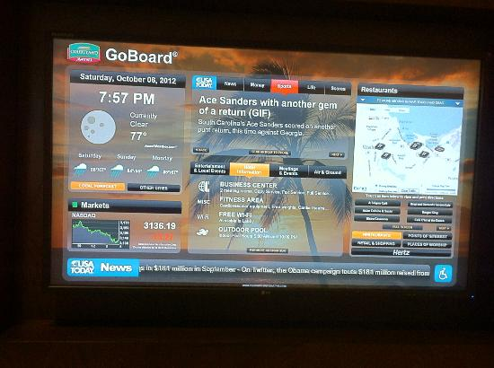 Courtyard Maui Kahului Airport: touch / interactive screen