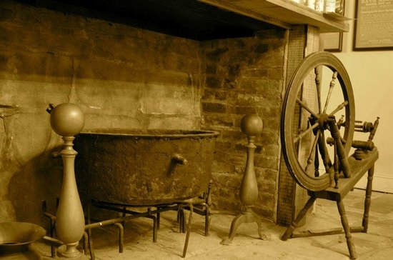 Darby's Tavern: One of the old hearths inside the restaurant