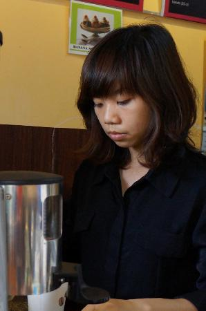 Cuppa Coffee: One of the baristas