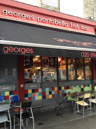 facade exterieur picture of george 39 s portobello fish bar london tripadvisor. Black Bedroom Furniture Sets. Home Design Ideas