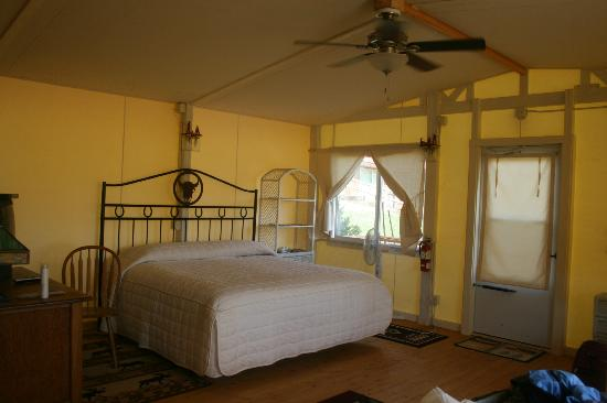 K3 Guest Ranch Bed & Breakfast: inside glamour tent