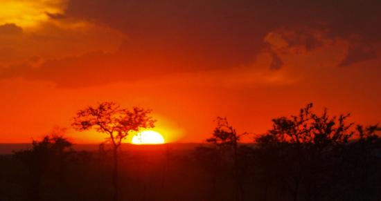 Porini Lion Camp: Sunset over the Mara