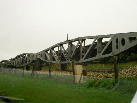 D-Day Beaches (Plages du Debarquement de la Bataille de Normandie): The bridge built in the ocean to bring the machinery and troops onto the landing beaches.