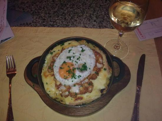 Derby Hotel: First Rosti, with wine