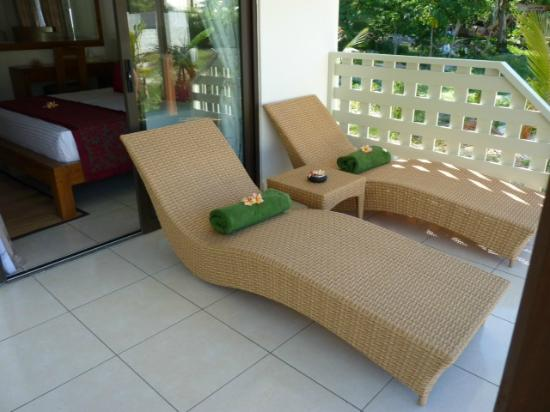 Takamaka Beach Villas : Veranda